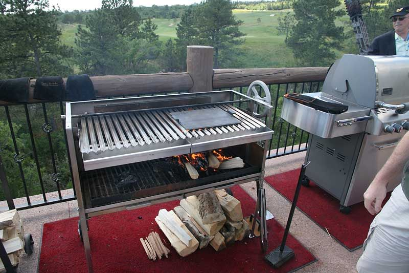Wood Fired Grill With Images Bbq Table Grilling Grill Table
