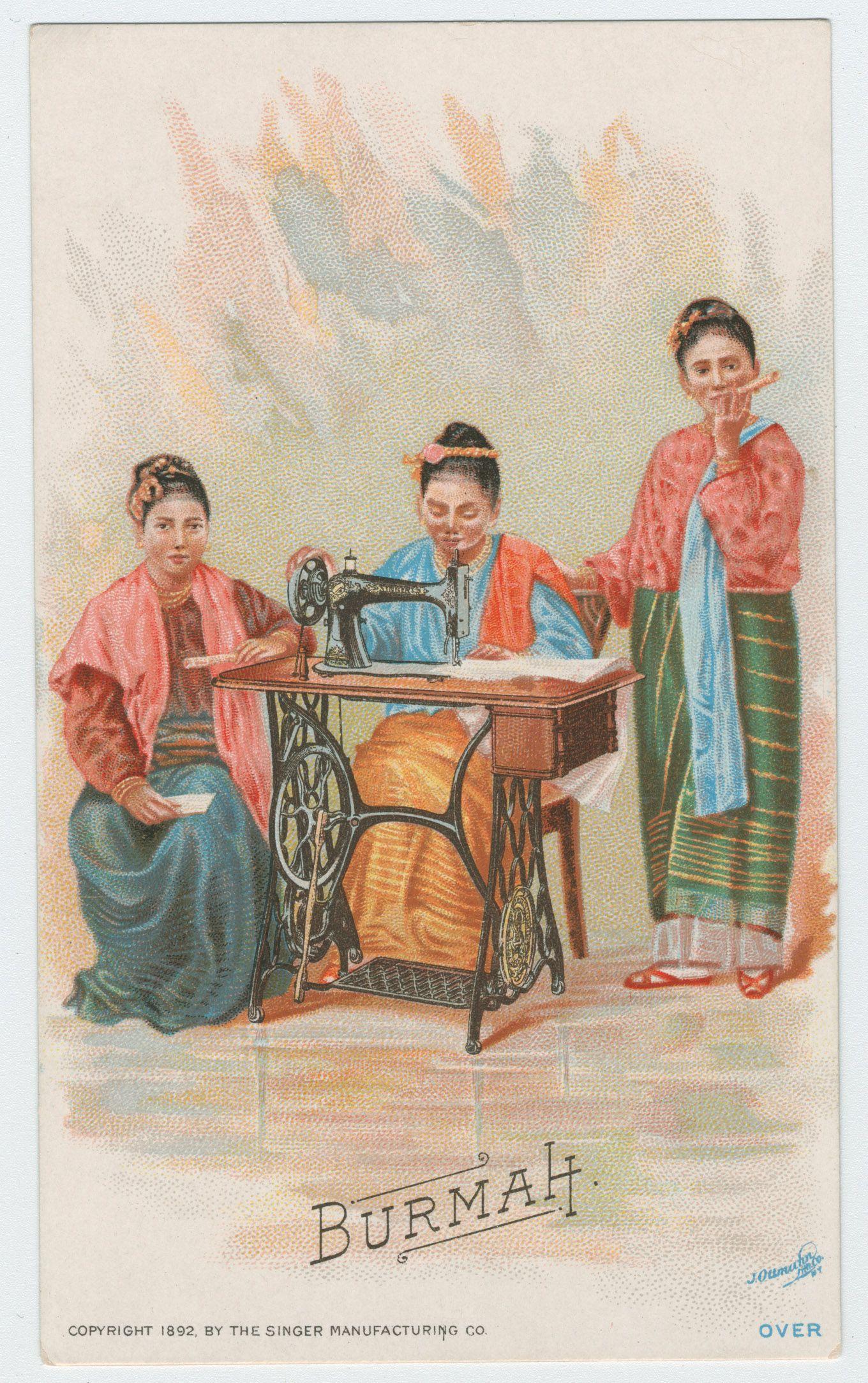 Trade card Burma 1892