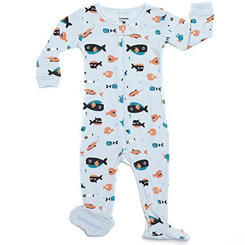 Amazon Com Leveret Footed Baby Boy Sharks Swimming Pajama Sleeper 100 Cotton Size 6m 5t Clothing Boys Footed Pajamas Foot Pyjamas Boys Sleepwear