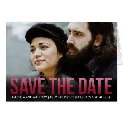 #createyourown #customize - #Your Own | Claret Watercolor Save The Date Pic Card