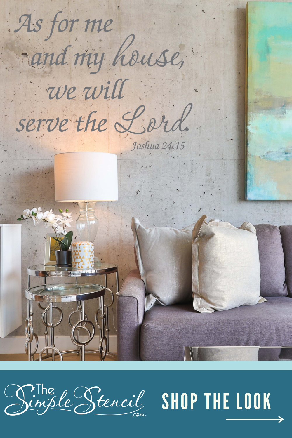 Christian Inspired Wall Decor  Easy to install, looks painted