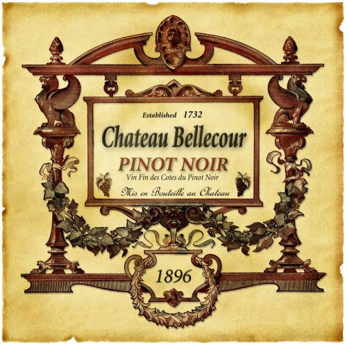 Pinot Noir Wine Label by Eureka Lake Studios Wine \ Dine - free wine bottle label templates