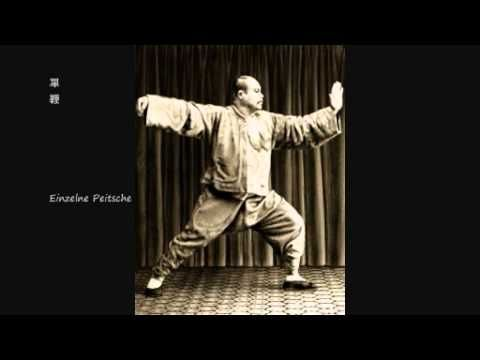This is a very good video rendition of pencil drawings of Yang Chengfu, set in the sequence of the Yang Style 108.  Notice how the reverent master is solidly rooted and comfortably stretched in his posture.  Study this video for your learning, and compare it with videos of other T'ai Chi practitioners.