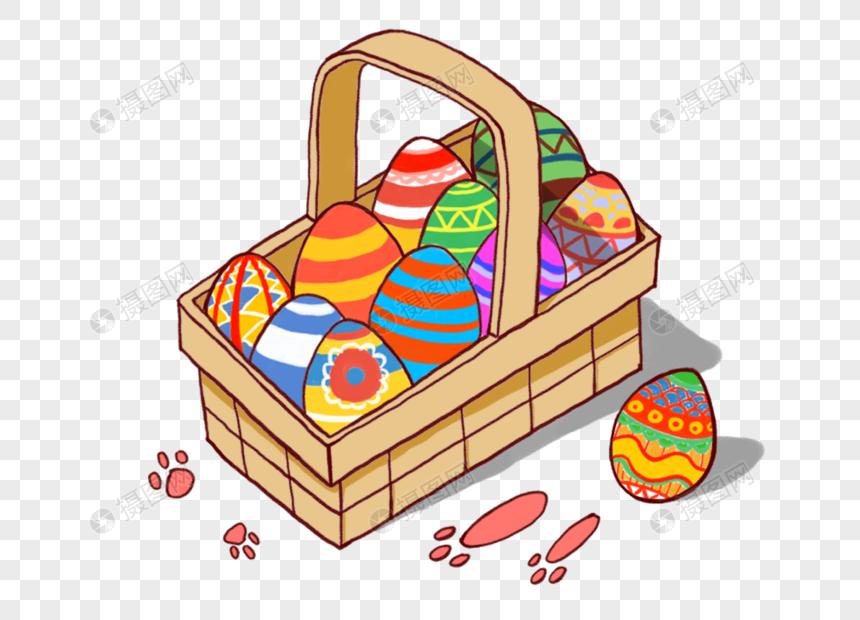 Creative Easter Egg Basket Festivals Easter Baskets Eggs Happy Eastern Creative Cartoon Creative Easter Eggs Easter Egg Basket Egg Gifts