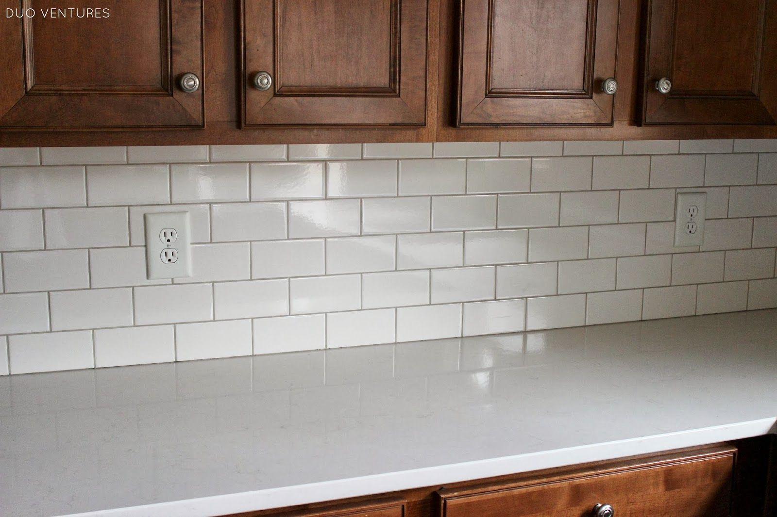 Kitchen Update Grouting Caulking Subway Tile Backsplash White Subway Tile Kitchen Kitchen Grout Color Subway Tile Kitchen