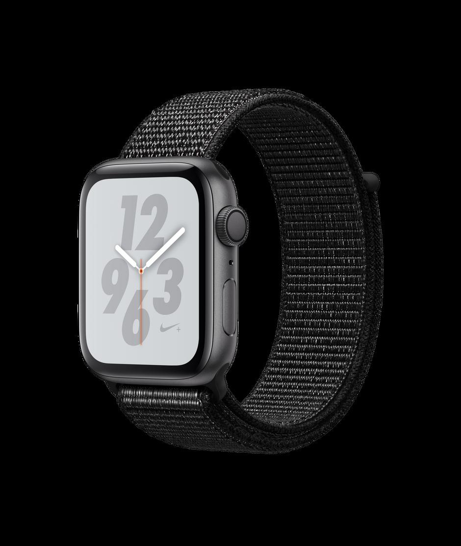Apple Watch Nike Series 4 Gps 44mm Space Gray Aluminum Case With Black Nike Sport Loop Apple Apple Watch Nike Buy Apple Watch Apple Watch Space Grey