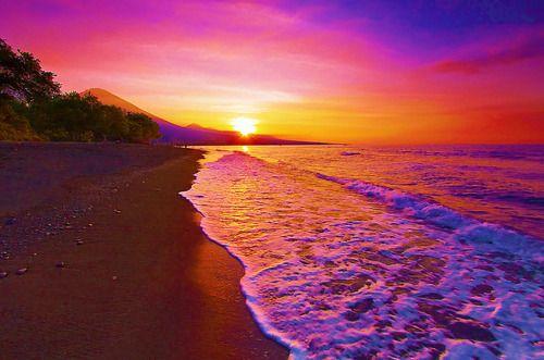 watch a sunset on the beach