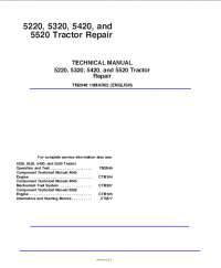 Repair manual john deere 5220 5320 5420 5520 tractor repair technical manual includes service information operation and maintenance manual specifications schems and circuits for tractors john deere fandeluxe Choice Image