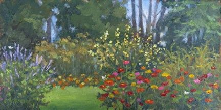 """Late Summer Garden (Kings Gap) An Original Plein Air Oil Painting by Claire Beadon Carnell"" - Original Fine Art for Sale - © Claire Beadon Carnell"