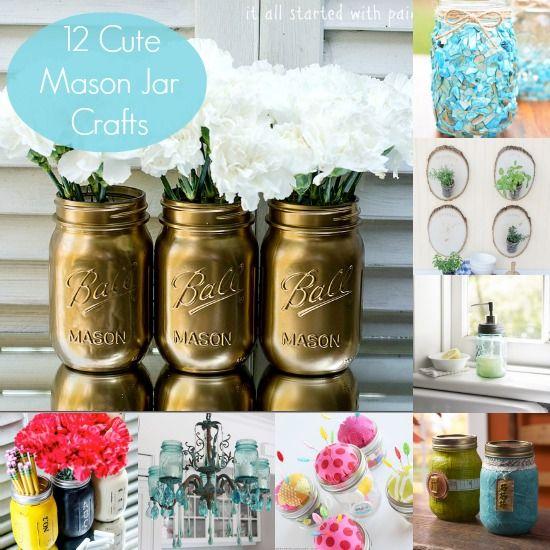 Mason Jar Decorating 12 Cute Mason Jar Crafts  Mason Jar Crafts Jar And Crafts