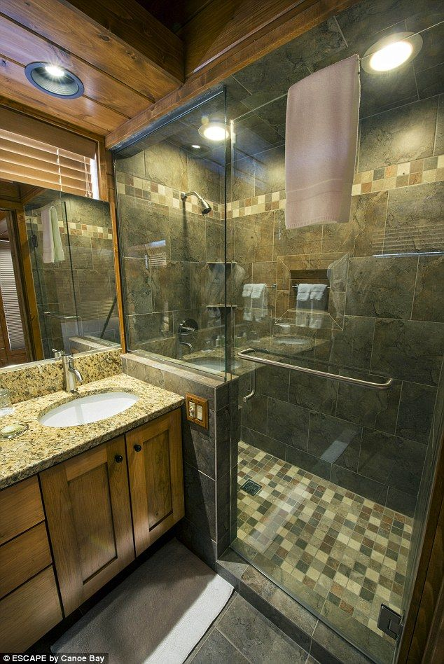 The cabin is around 400 square feet larger than most 1 bedroom