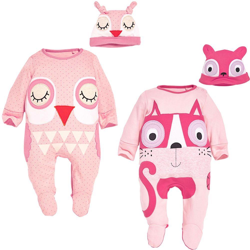 404fb0a990fd Cartoon Baby Boys Girls Romper Cute Animal Model Long Sleeve Warm ...