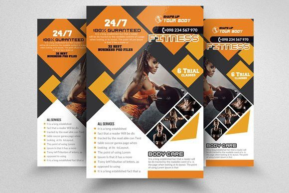 Fitness Training Flyer Templates Flyer Template Template And