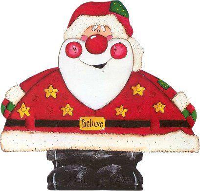 Dibujos A Color Papa Noel En Color Velas Navidad