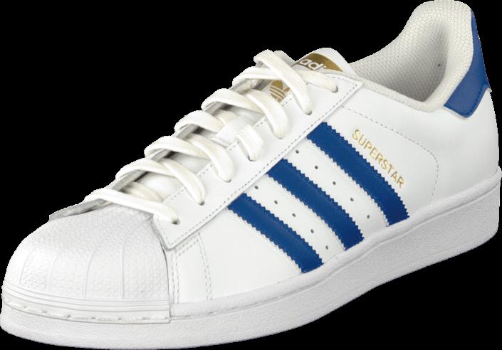 Kjøp adidas Originals Superstar Foundation White/Collegiate Royal Hvite sko   Lave Sneakers for Herrer ✓ Fri frakt ✓ Fri retur ✓ Rask levering. Prisgaranti!