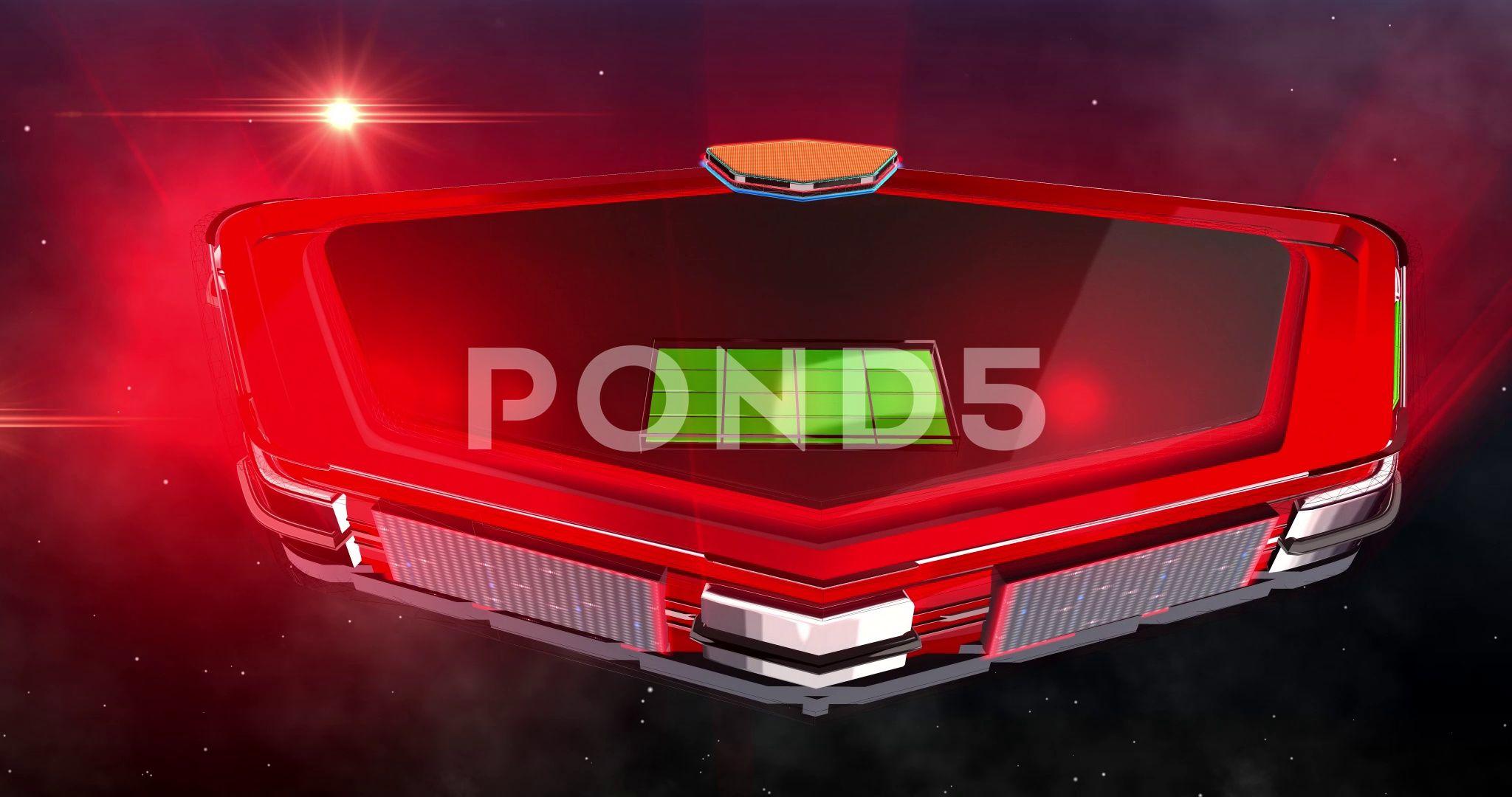 Virtual Motion Green Screen Red Shield Chroma, Stock