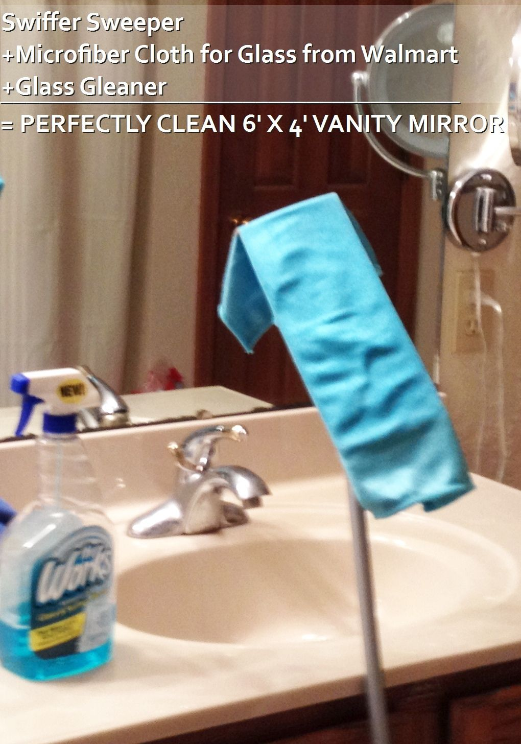 Perfectly clean my large tall mirror Cleaning tips Pinterest