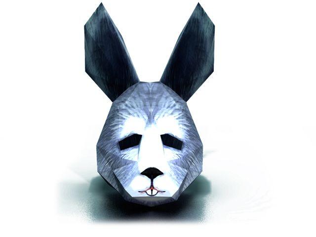 Сделать маску Зайца / Кролика из бумаги и картона своими руками. Модель, схема и видео инструкция. Скачать маску: http://maskhunters.ru/maski/maska-zayaca
