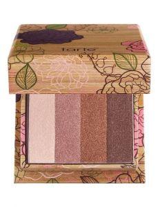 tarte beauty & the box Amazonian clay eyeshadow quad with deluxe lights, camera, lashes! mascara