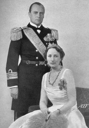 księżna i książę koronny Norwegii Märtha i Olav - 1939r.
