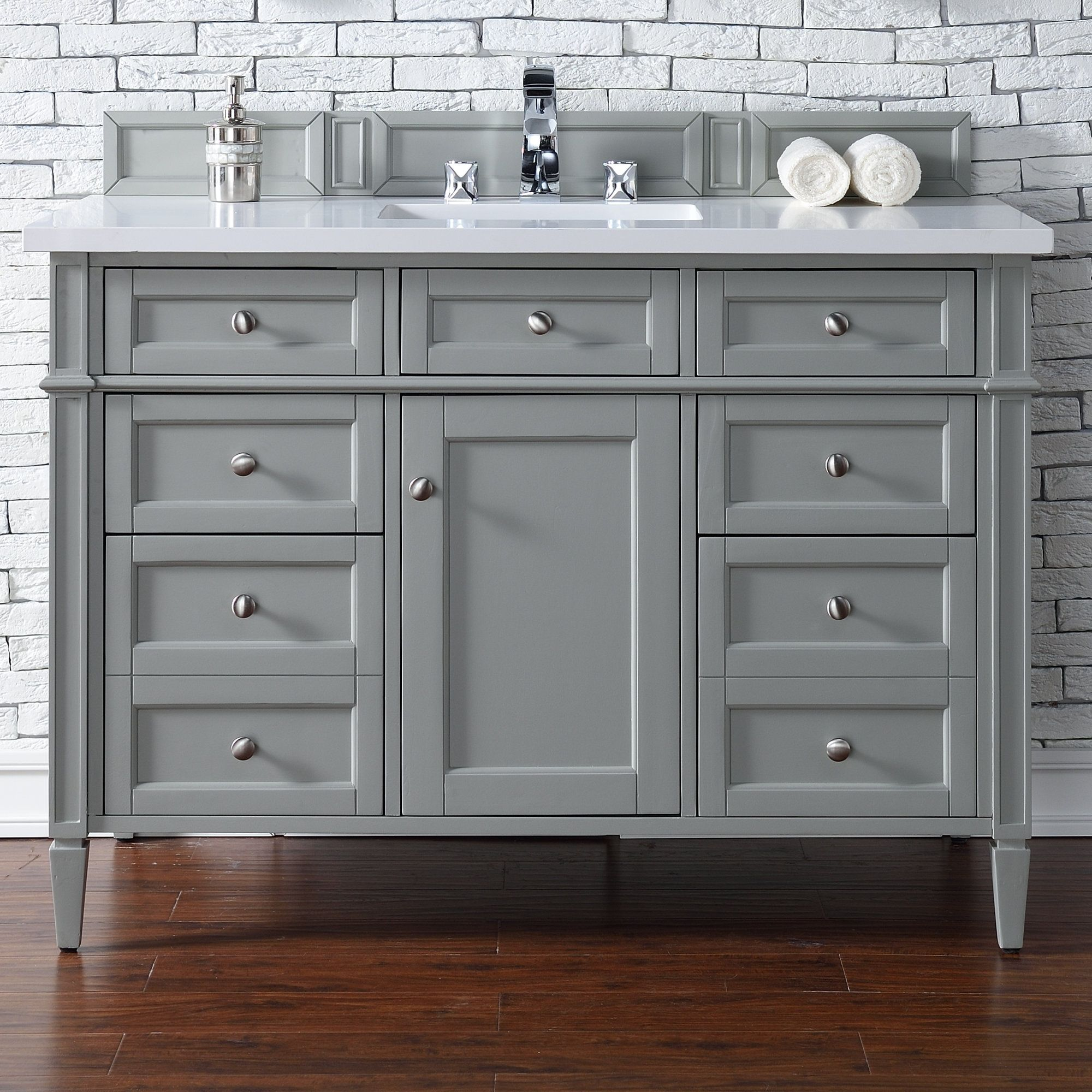 Brittany Single Urban Gray Bathroom Vanity Set Products - 48 gray bathroom vanity
