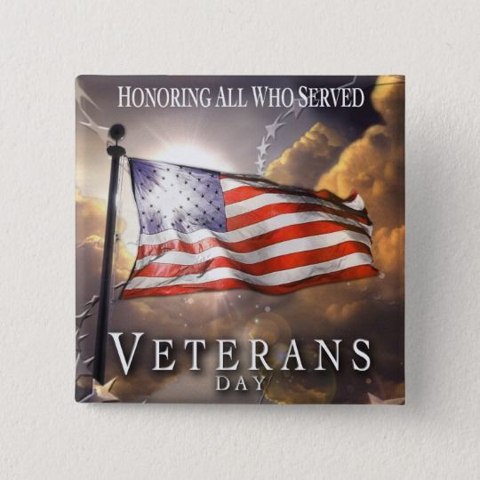 VETERANS DAY PINBACK BUTTON | Zazzle.com