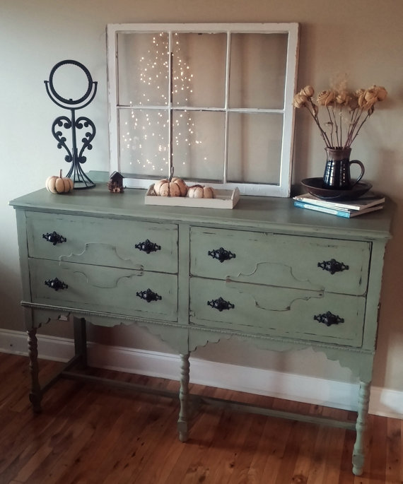Refinshed Annie Sloan Chalk Paint Distressed Sideboard