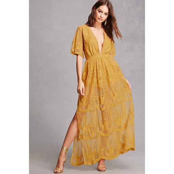 f3ad3edded7 Forever21 Honey Punch Lace Maxi Dress ( 65) ❤ liked on Polyvore featuring  dresses
