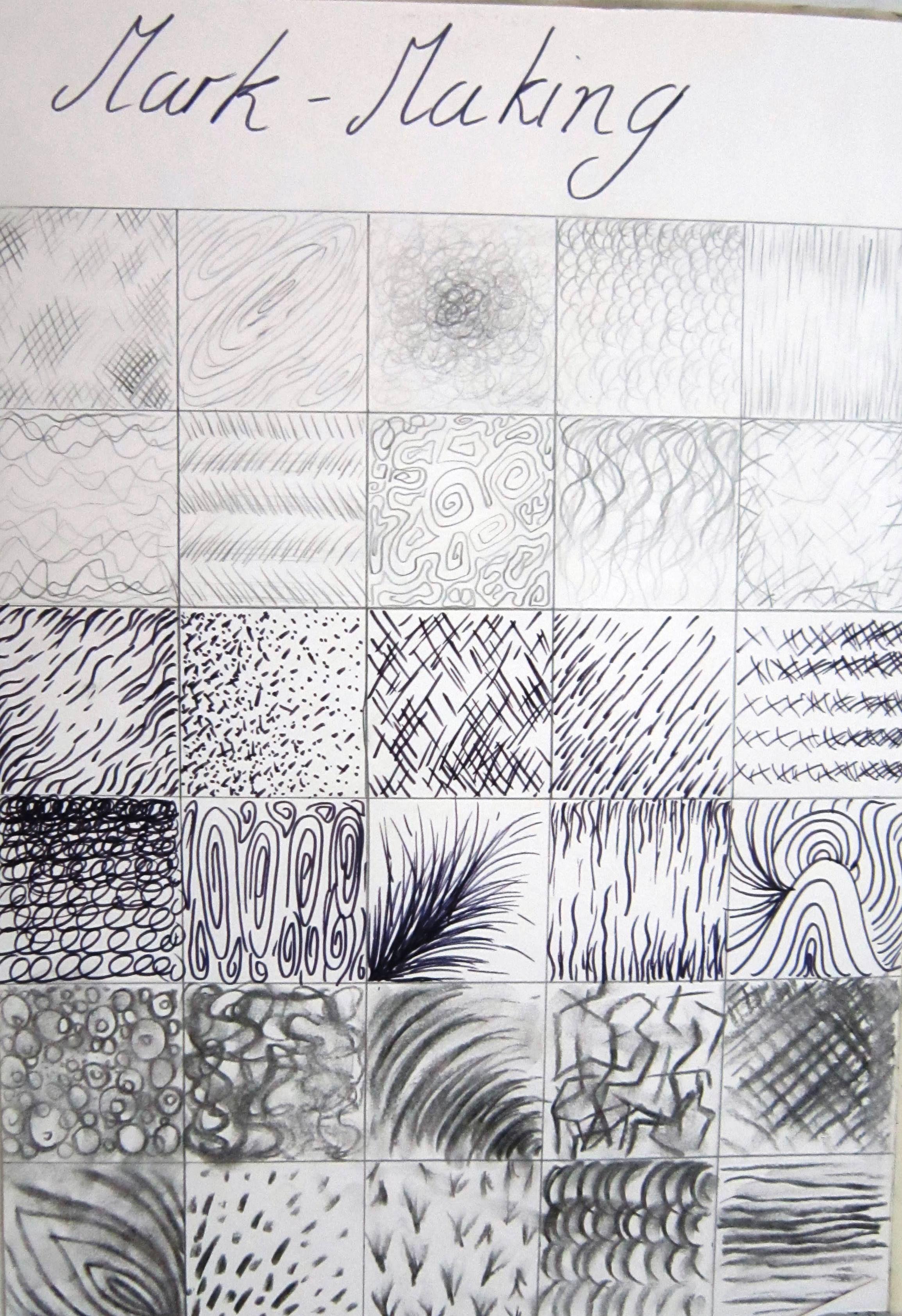 Mark making, pencil, pen, charcoal | Zentangles/Drawings patterns ...