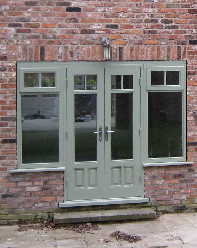 Timber doors in cheshire reddish joinery timber doors for Upvc french doors black