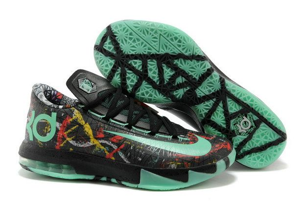 new arrival 1ff4d d639d Free Shipping Only 69  KD 6 All Star Multi color Green Glow Black Illusion  KD