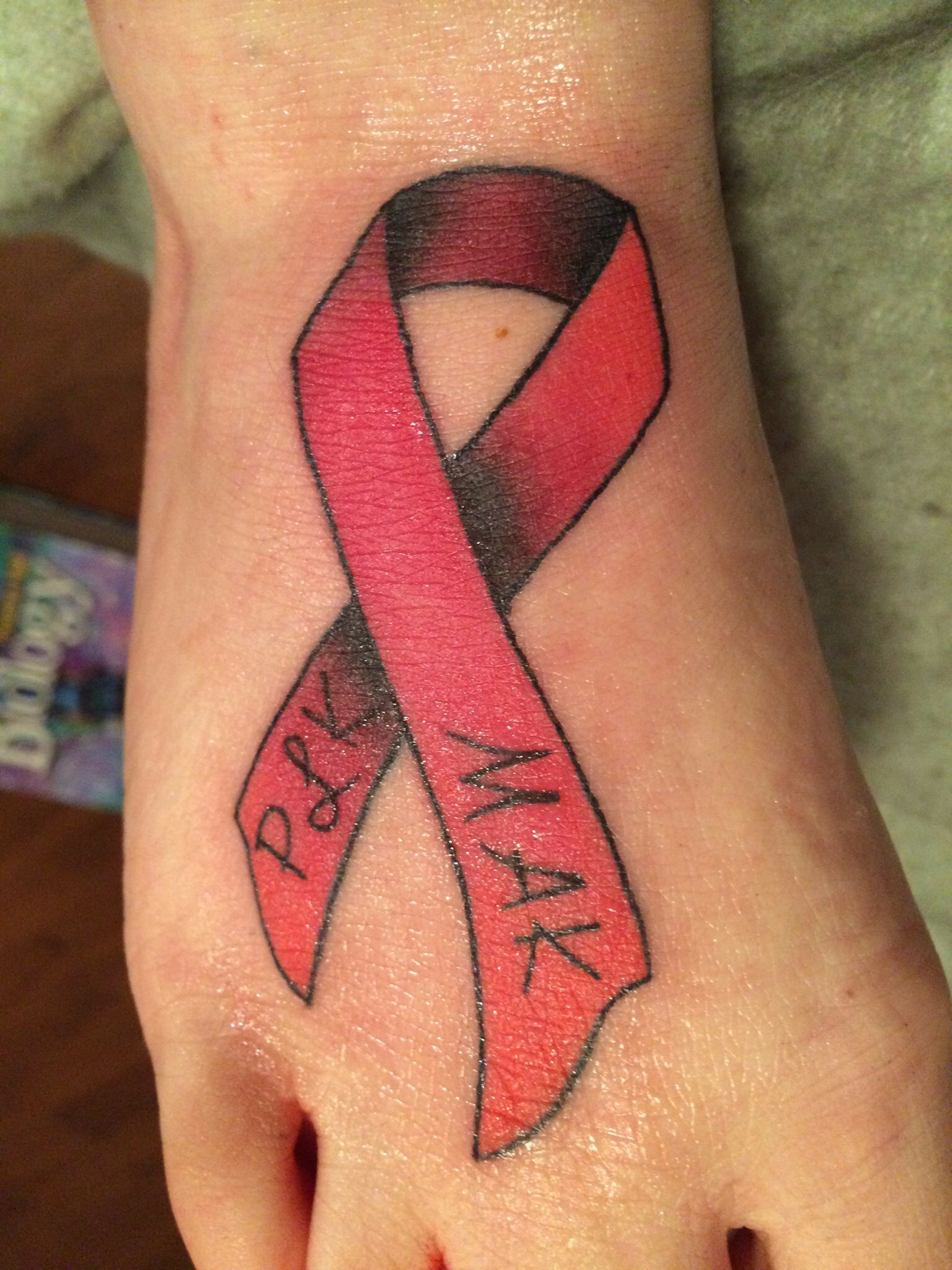 Stroke Awareness Heart Disease Awareness Ribbon Tattoo Tattoos