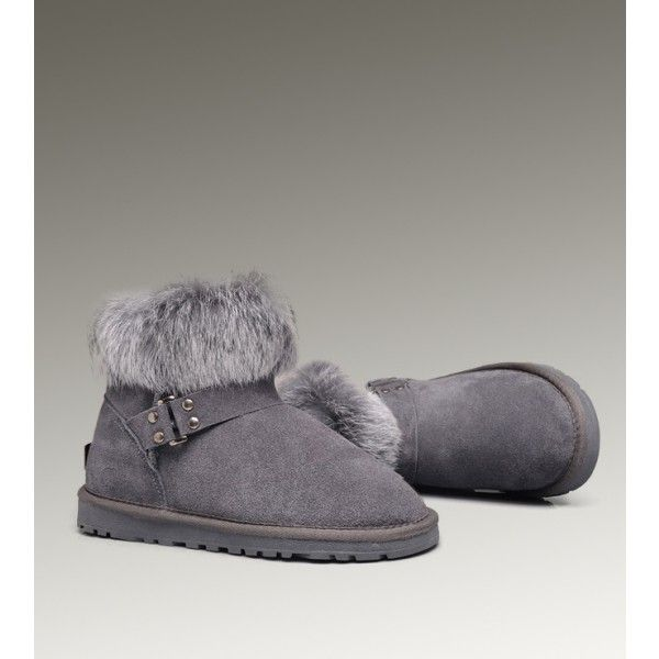 UGG Mini Fox Fur 5859 Grey Boots