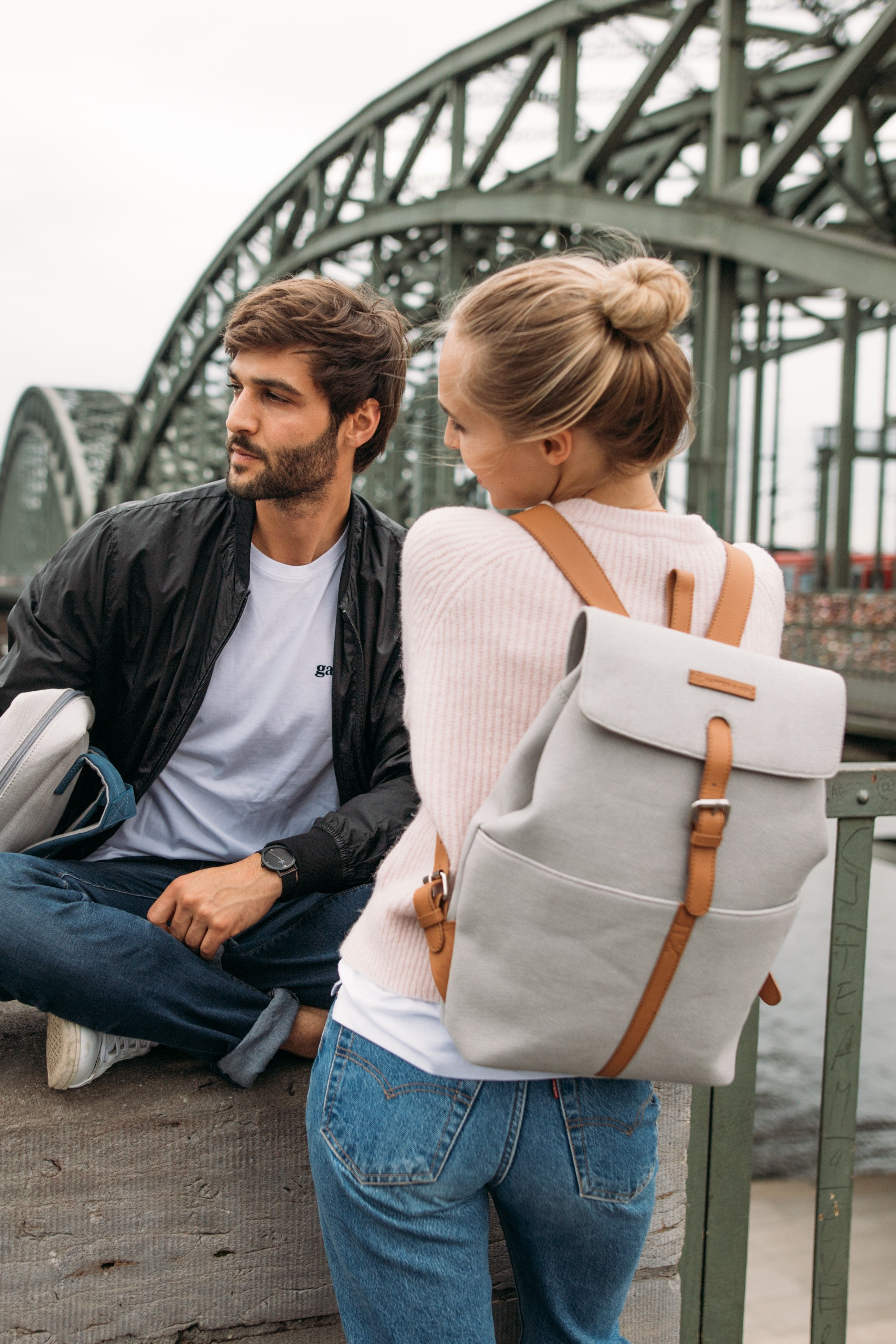Scandinavian Backpack Minimalist School College University Travel Backpack Vegan Backpack Rucks Minimalist Backpack Backpack Purse Grey Backpacks