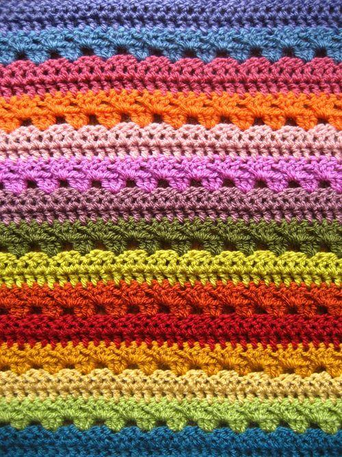 Cosy Stripe Blanket | Pinterest | Decken, Häkeln und Häkelmuster