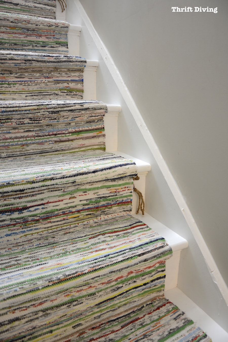 Ikea Teppich Eingang Diy Painted Stairs Makeovers Are Easy With Just Paint Ikea Rugs