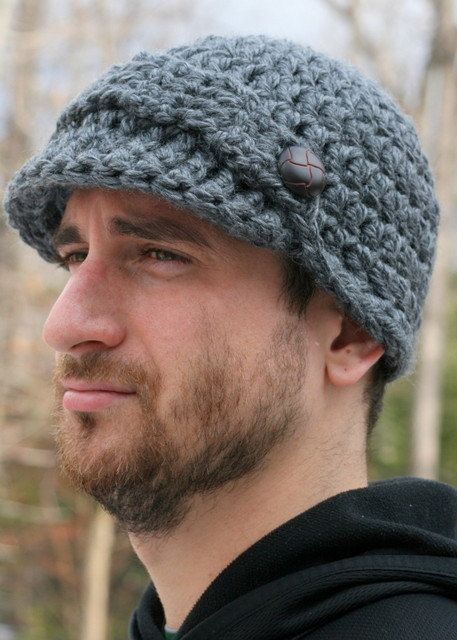 Instant PDF File - Easy 40 minute Pattern for Crochet Newsboy Hat ...