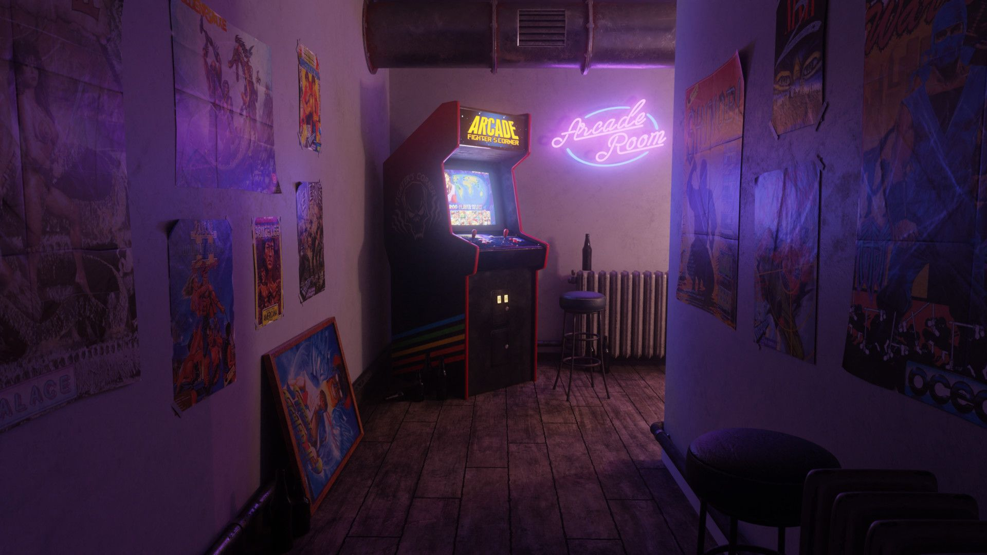 Arcade Room [19201080] Hdwallpaper wallpaper image