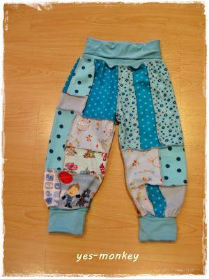 Katwise Blog | Für diese Hose habe ich meine blau/türkisen Reste verwendet, es ...