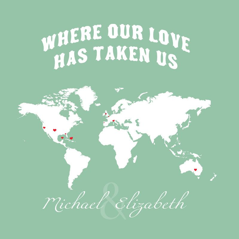 Map Poster Map Quote Wanderlust Poster Travel World Map Love