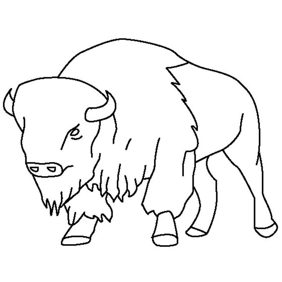 Bison Coloring Pages Free Malvorlagen Tiere Ausmalbilder Zeichenvorlagen