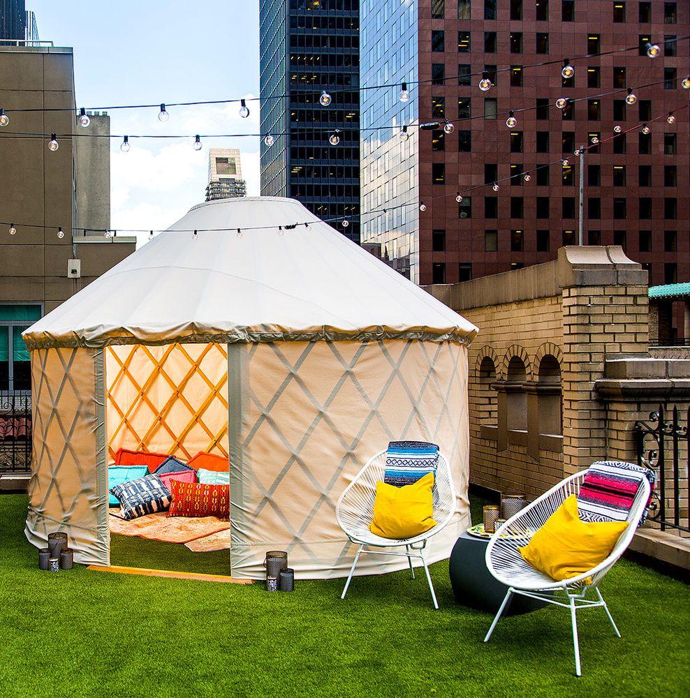 la tienda de campaña es ideal para realizar un picnic terraza