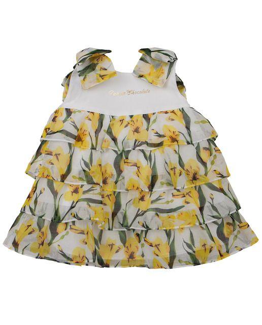 Vestido De Bebé Niña Pan Con Chocolate Con Volantes Y Estampados Florales Vestidos Para Bebés Vestidos Bebe Niña Moda
