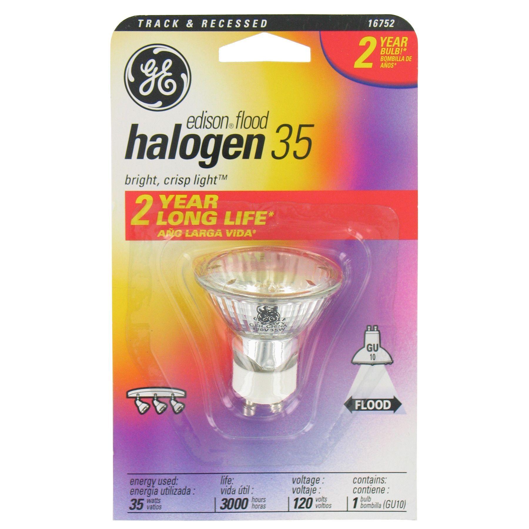 Ge Lighting 84905 50 Watt Halogen Recessed Flood Light Bulb