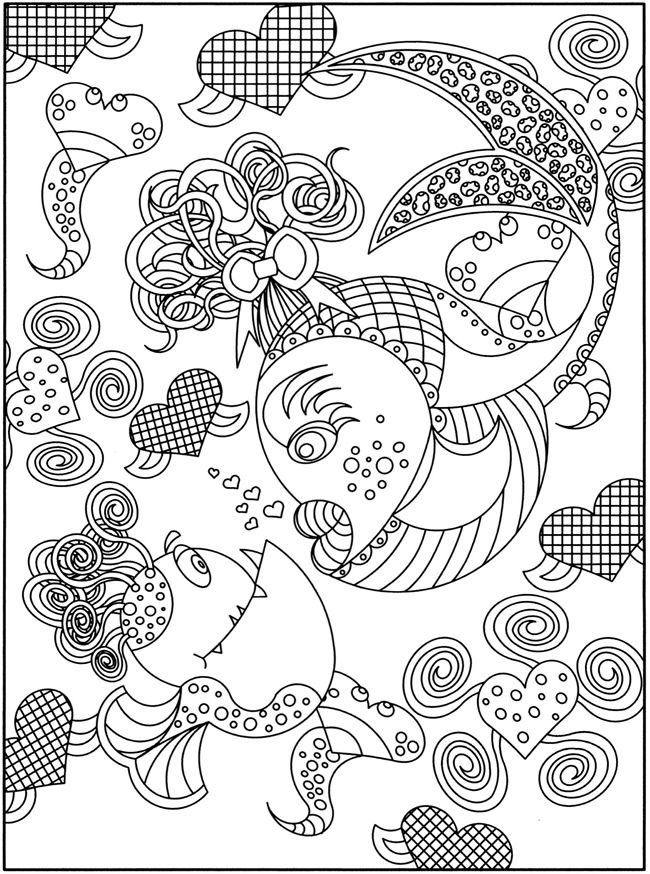 SPARK -- Fancy Fish Coloring Book   Animales (12) colorear ...