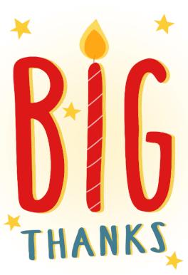 Big thanks free printable birthday thank you card greetings big thanks free printable birthday thank you card greetings island m4hsunfo