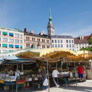 Viktualienmarkt In Munchen Munich Germany Travel