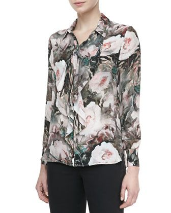 Dream Floral-Print Silk Blouse by Haute Hippie at Neiman Marcus.