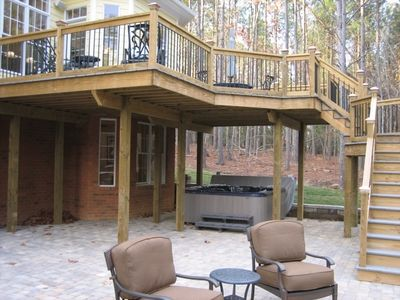 Under Deck Hot Tub Hot Tub Room Hot Tub Gazebo Patio Under Decks
