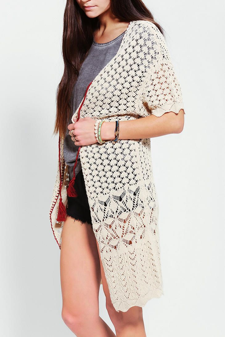 Ecote Pointelle Duster Cardigan- Urban Outfitters | Clothing ...